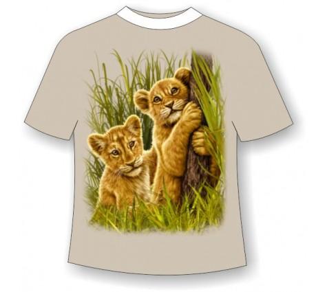 Подростковая футболка со львятами 796 (LM)