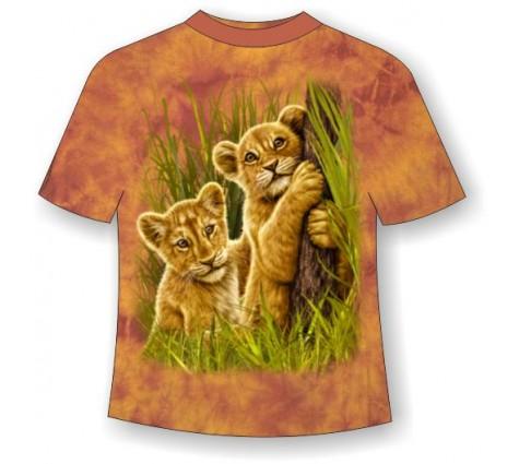 Подростковая футболка со львятами ММ 796