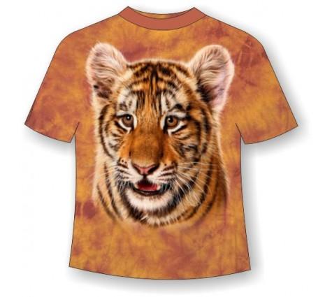 Подростковая футболка с тигренком