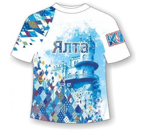 Подростковая футболка Ялта-Ромбы