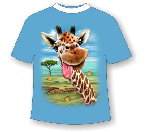 Подростковая футболка Жираф веселый (LM)