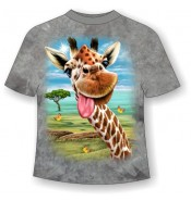 Подростковая футболка Жираф веселый ММ 799