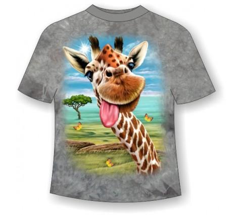 Подростковая футболка Жираф веселый ММ