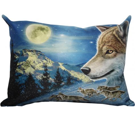 Подушка с волком