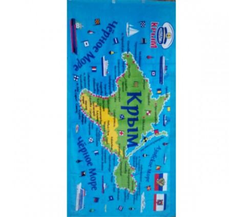 полотенце карта крыма