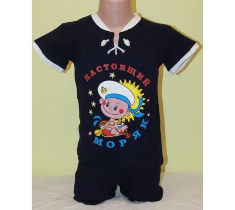 Детский костюм Настоящий моряк.  Цвет фиолетовый