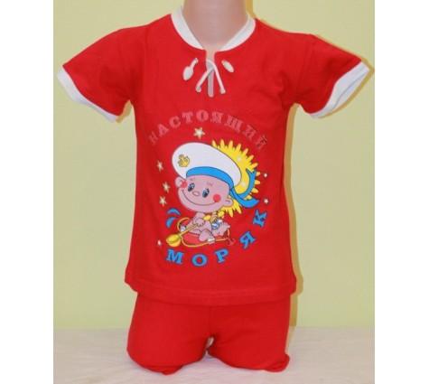 Детский костюм Настоящий моряк.  Цвет красный