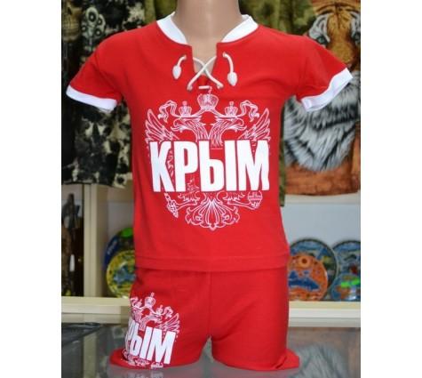 Детский костюмчик Крым - Россия. Цвет красный