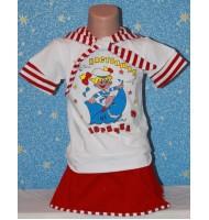 Детский костюмчик Настоящая морячка. Цвет красный
