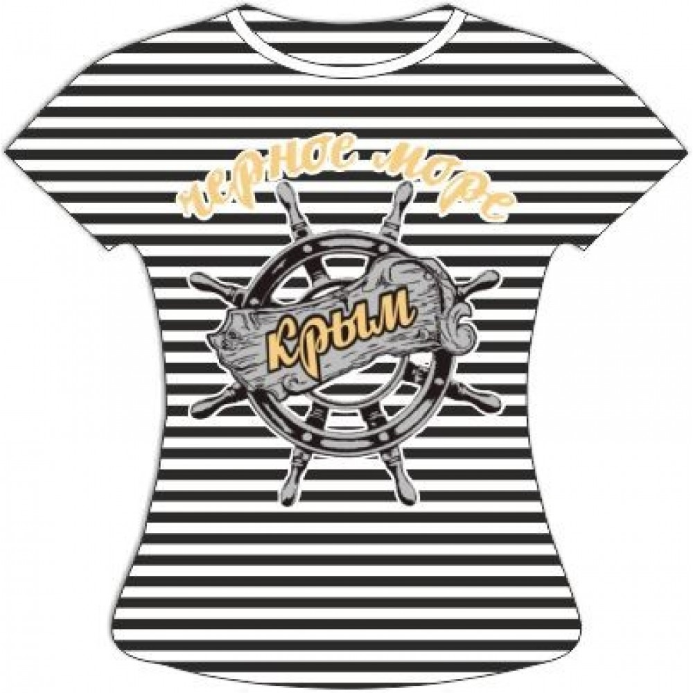 Женская полосатая футболка Штурвал