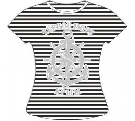 Женская полосатая футболка Якорь