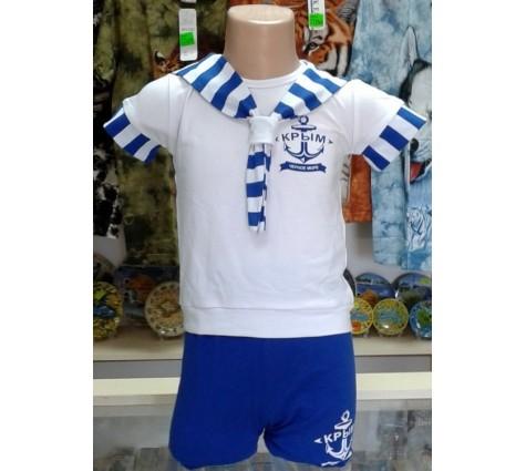 Детский костюмчик Якорь. Цвет синий