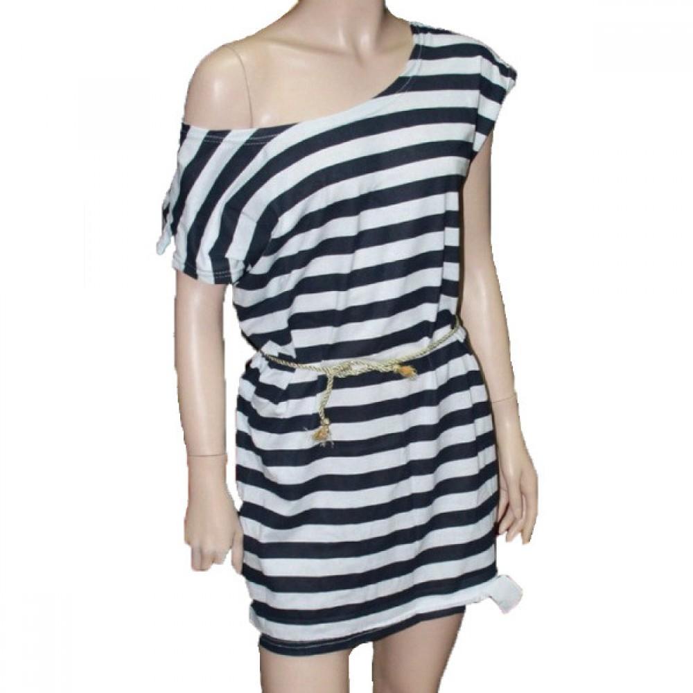 Женская тельняшка платье 21