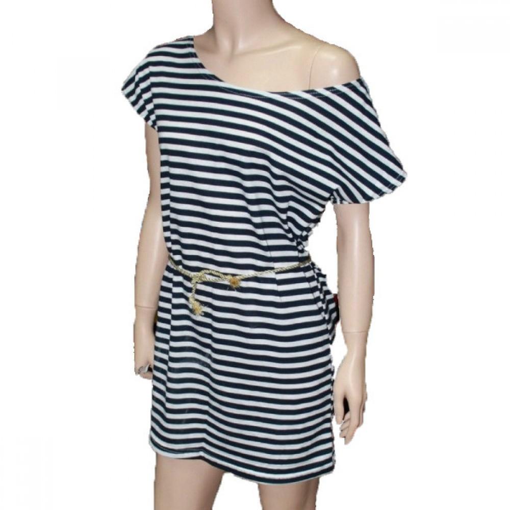 Женская тельняшка платье 22