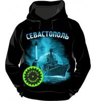 Толстовка с капюшоном Севастополь Ночной 358