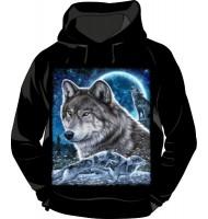 Толстовка с капюшоном Волк №376