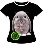 Женская футболка с Кроликом 930