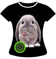 Женская футболка с Кроликом