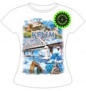 Женская футболка Мост коллаж 945
