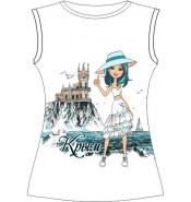 Женская футболка Туристка