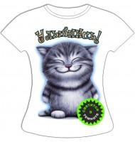 Женская футболка Улыбнись