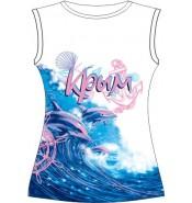 Женская футболка Розовые дельфины