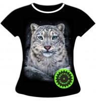 Женская футболка Снежный барс