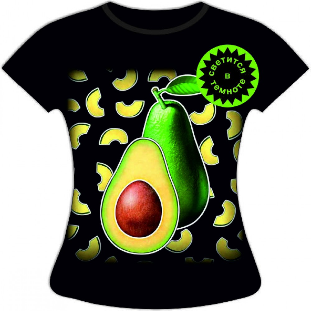 Женская футболка Авокадо 1139