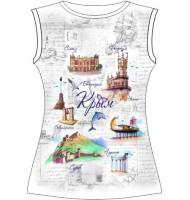 Женская футболка Открытка Крым