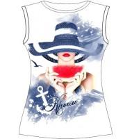 Женская футболка с арбузом