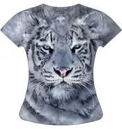 Женская футболка Белый тигр KP117