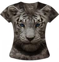 Женская футболка Белый тигр KP 141