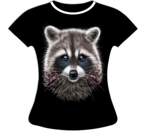 Женская футболка больших размеров Енот