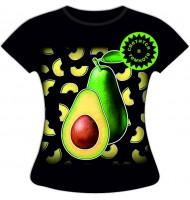 Женская футболка больших размеров Авокадо 1139