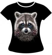 Женская футболка больших размеров Енот 792