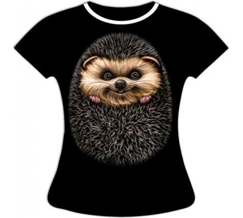 Женская футболка Ежик №398