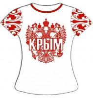 Женская футболка хохлома красная