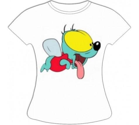 Женская футболка Вжик