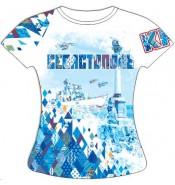 Женская футболка Севастополь-Ромбы