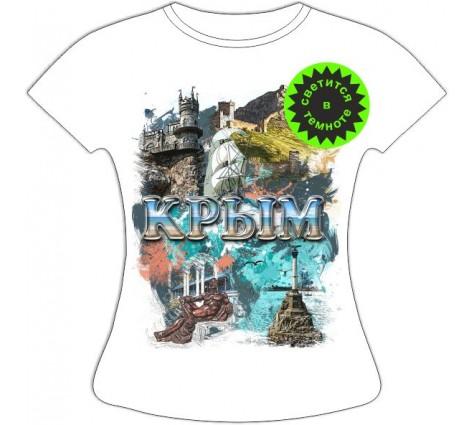Женская футболка Крым достопримечательности