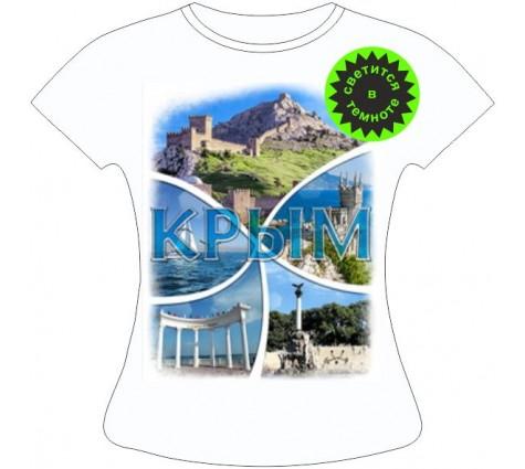Женская футболка Крым коллаж 844