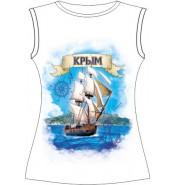 Женская футболка Крым-парусник 711