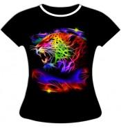 Женская футболка Леопард 617