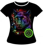 Женская футболка Пантера в блестках 849