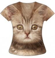 Женская футболка Рыжий кот