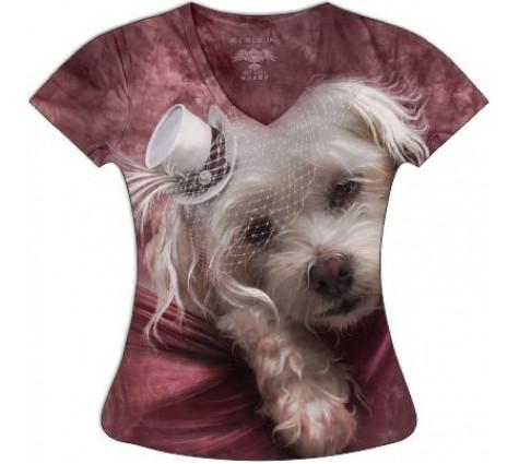 Женская футболка с собчакой болонка