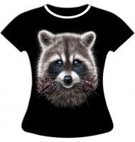 Женская футболка Енот