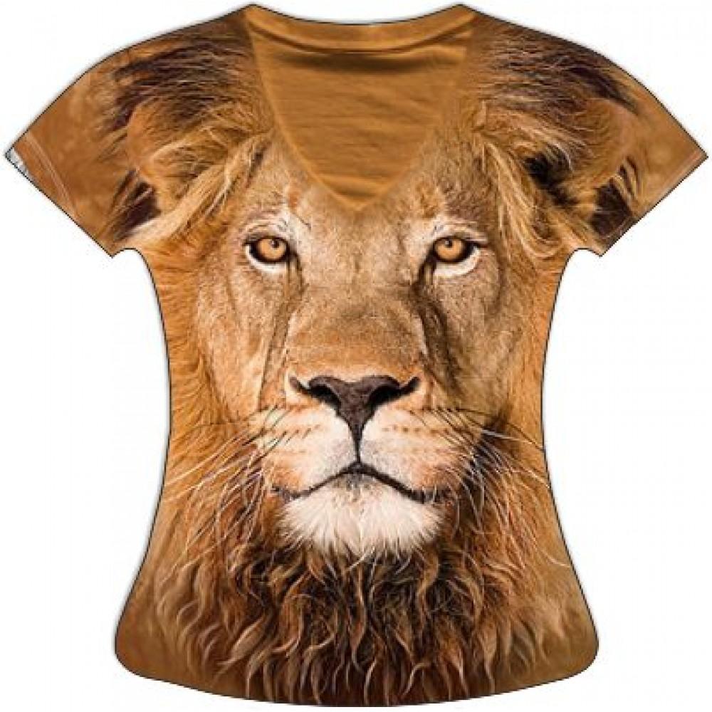 Женская футболка Лев KP 144