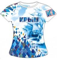 Женская футболка Крым-Ромбы