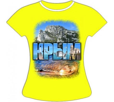 Женская футболка Крым Волна 757